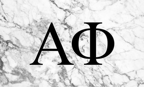 Alpha Phi Sorority Flag- Marble