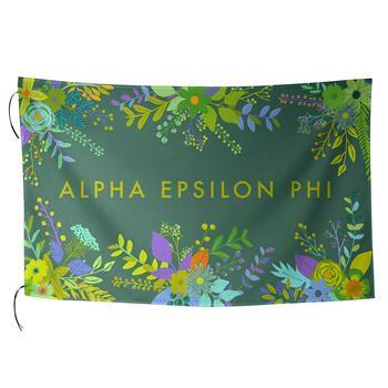 Alpha Epsilon Phi AEPHI Sorority Floral Flag-Style 2