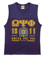 Omega Psi Phi Fraternity Tank Top- Crest