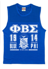 Phi Beta Sigma Fraternity Tank Top- Crest