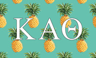 Kappa Alpha Theta Sorority Flag-Pineapple