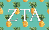 Zeta Tau Alpha ZTA Sorority Flag-Pineapple