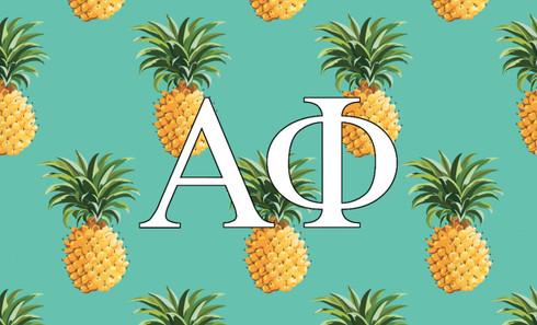 Alpha Phi Sorority Flag-Pineapple