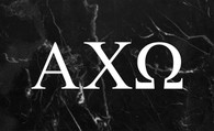 Alpha Chi Omega Sorority Flag-Black Marble