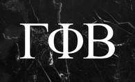 Gamma Phi Beta Sorority Flag-Black Marble