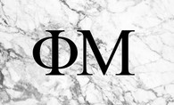 Phi Mu Sorority Flag- Marble
