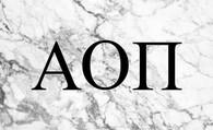 Alpha Omicron Pi AOPI Sorority Flag- Marble