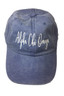 Alpha Chi Omega Sorority Script Hat- True Royal