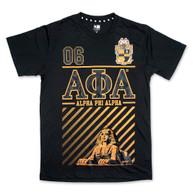 Alpha Phi Alpha Fraternity Foil Print Shirt- Front