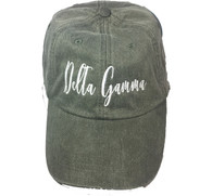 Delta Gamma Sorority Script Hat- Charcoal