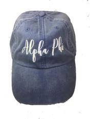 Alpha Phi Sorority Script Hat- True Royal