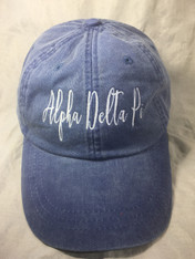 Alpha Delta Pi ADPI Sorority Script Hat- True Royal