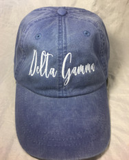 Delta Gamma Sorority Script Hat- True Royal