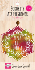 Alpha Chi Omega Sorority Mandala Air Freshener
