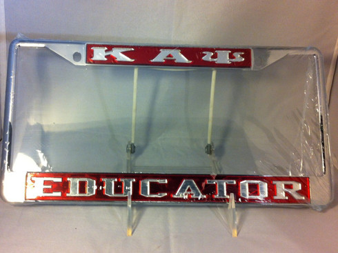"""Kappa Alpha Psi Fraternity """"Educator"""" License Plate Frame - Brothers ..."""