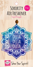 Delta Delta Delta Tri-Delta Sorority Mandala Air Freshener