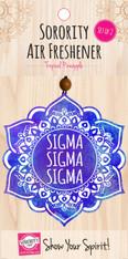 Sigma Sigma Sigma Tri-Sigma Sorority Mandala Air Freshener