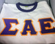 Sigma Alpha Epsilon SAE Fraternity Ringer T-shirt