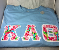 Shirt Inspiration Light Blue Double Stitched Letter Shirt – Floral