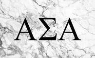 Alpha Sigma Alpha Sorority Flag- Marble