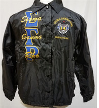 Sigma Gamma Rho Sorority Line Jacket- Black