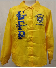 Sigma Gamma Rho Sorority Line Jacket- Yellow
