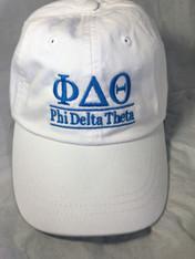 Phi Delta Theta Fraternity Hat- White