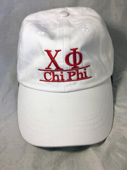 Chi Phi Fraternity Hat- White