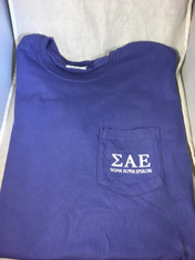 Sigma Alpha Epsilon SAE Fraternity Comfort Colors Shirt- Purple-Front