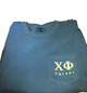 Chi Phi Fraternity Comfort Colors Shirt-Blue-Front