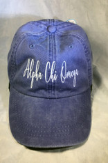 Alpha Chi Omega Sorority Script Hat- Purple