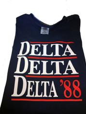 Delta Delta Delta Tri-Delta Sorority Political Shirt