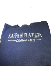 Kappa Alpha Theta Sorority Crewneck Sweatshirt- Blue