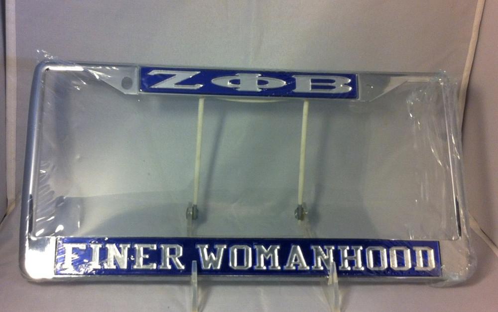 Zeta Phi Beta Sorority Finer Womanhood License Plate