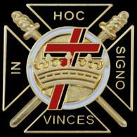 Mason Masonic Knights Templar Lapel Pin