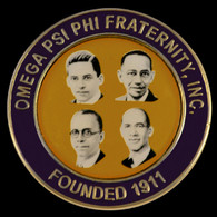 Omega Psi Phi Fraternity Founders Lapel Pin