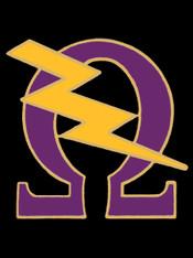 Omega Psi Phi Fraternity Bolt Lapel Pin-Purple