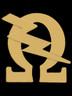 Omega Psi Phi Fraternity Bolt Lapel Pin-Gold