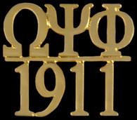 Omega Psi Phi Fraternity Chapter Bar Lapel Pin