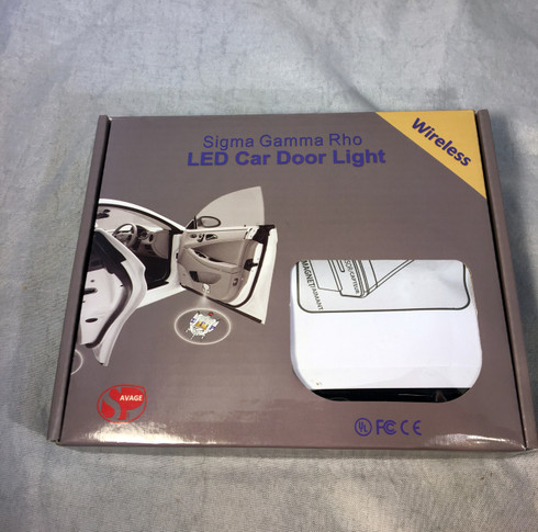 Sigma Gamma Rho Sorority LED Car Door Light- Set of 2