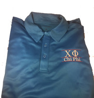 Chi Phi Fraternity Dri-Fit Polo-Blue