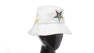 Order of the Eastern Star OES Bucket Hat-White