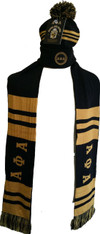 Alpha Phi Alpha Fraternity Scarf and Beanie Set