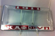 "Kappa Alpha Psi Fraternity ""Double Greek Letter"" License Plate Frame"
