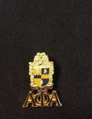 Alpha Phi Alpha Fraternity Crest with 3 Greek Letter Lapel Pin