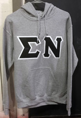 Sigma Nu Fraternity Hoodie- Gray