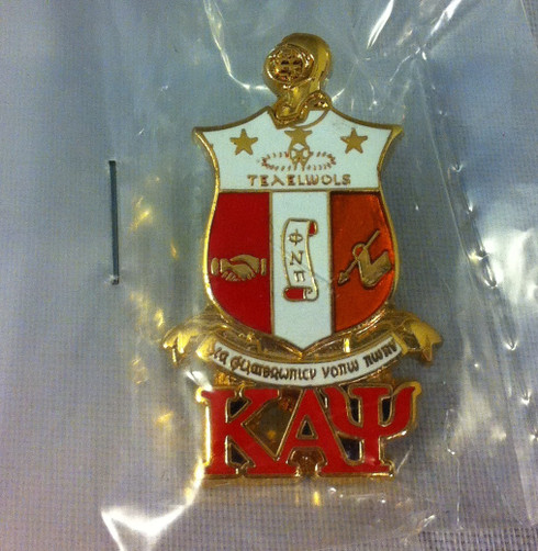 Kappa Alpha Psi Fraternity Crest with 3 Greek Letter Lapel Pin