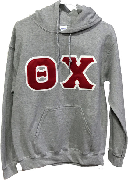 Theta Chi Fraternity Hoodie- Gray