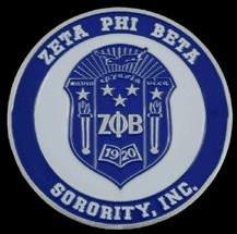 Zeta Phi Beta Sorority Crest Car Emblem