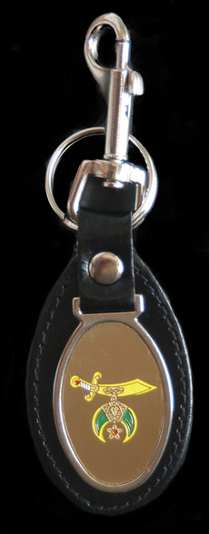 Shriner Leather Key Chain